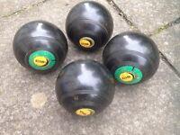 Set of 4 lawn bowls - Size 3 - Penarth