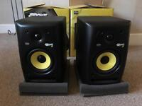 KRK Rokit 5 G2 studio monitors (come with cables and box)