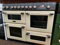 Black & cream cannon 100cm dull full cooker grill & double fan assets ovens with guarantee