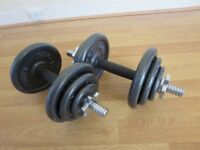 DUMBBELL SET with PRO POWER CAST IRON WEIGHTS – 20KG