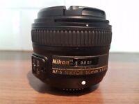 Nikon 50mm f1.8 af-s g lens boxed as new