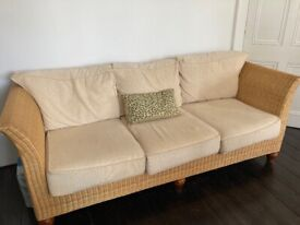 Rattan 3 seater sofa