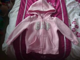 Gorgeous Girls Hooded Sweat Jacket & Gillet Bundle, size 12-18/18-24 months, excellent condition