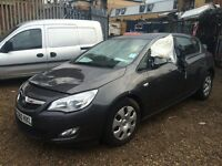 VAUXHALL ASTRA EXCLUSIV 98,1.4, 2010, 5 SPEED MANUAL, BREAKING FOR SPARES