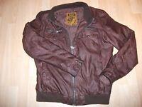 SUPER DRY leather jacket size L