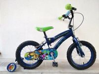"""FREE Bell with (2654) 14"""" BEN10 Boys Girls Kids Bike Bicycle+STABILISERS Age: 4-5 Height: 98-112 cm"""