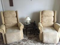 PRICE REDUCED Pair of rise & recline armchairs