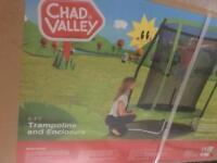 Chad valley 6ft trampoline with enclosure brand new