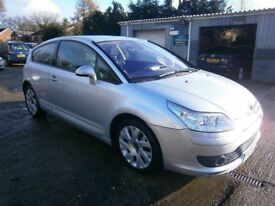 ** NEWTON CARS ** 05 55 CITROEN C4 2.0 VTS HDI 3 DOOR COUPE, GOOD OVERALL, S/H, MOT FEB 2019