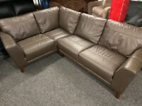 NEW - EX DISPLAY DFS HOPKIN BROWN LEATHER CORNER SOFA SOFAS, 70% Off RRP GROUP