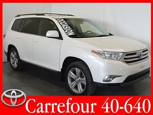 2013 Toyota Highlander V6 4WD Sport Cuir+Toit Ouvrant 7 Passager