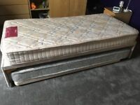 Single Bed with Guest bed, Mattresses and headboard.
