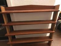 Solid wood mahogany oak Bespoke DVD shelving! Grab a bargain
