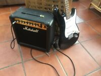Fender Electric Guitar & Marshall Amplifier.