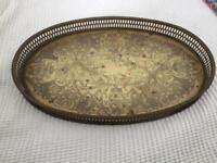 Antique Serving Brass Tray