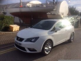 2014 SEAT IBIZA TOCCA WHITE 1.4 PETROL CAT D 0NLY 14,000 MILES COVERED EXCELLENT CONDITION