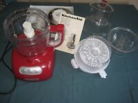 Kitchen Aid Food Processor complete, good as new and ready for you