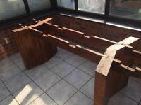 Beautifull Heavy solid Mango wood dinning table seats 8