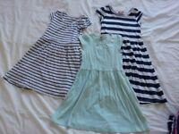girls dresses & leggings (age 6-8)