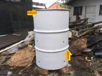 Burning bin 205 litres, ready to use, garden waste leaves wood shipping container