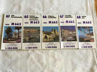 Maps of South of France - Mediterranean Coast - Set of 5 maps - Majority excellent condition