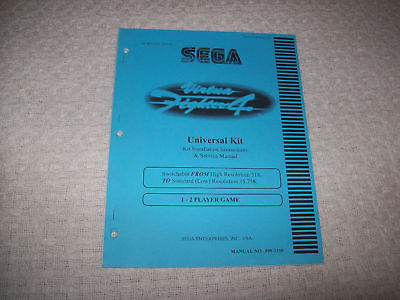 Service Manual-kit (SEGA VIRTUA FIGHTER 4 VIDEO GAME SERVICE MANUAL KIT '00)