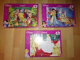 Disney Princess Jigsaw Puzzles ( Jasmin, Snow White and Cinderella)