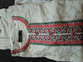 Stitched three piece brand new dress (L)