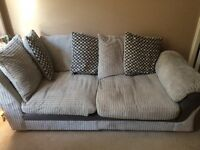 Corner sofa and swivel cuddle chair
