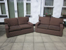 TWO 2 SEATERS SOFAS