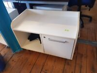 11 x Low filing cabinet with drawer