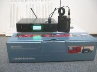 Audio Technica ATW-3110bP 3000 Wireless Lapel Microphone System (U Band CH38)