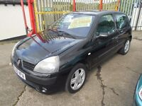 renault clio 1.2 dynamique 3dr 2005 model,good service history,full mot on purchase