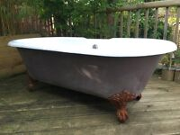 Beautiful Cast Iron Roll top Bath with claw feet- Bargain price! SOLD