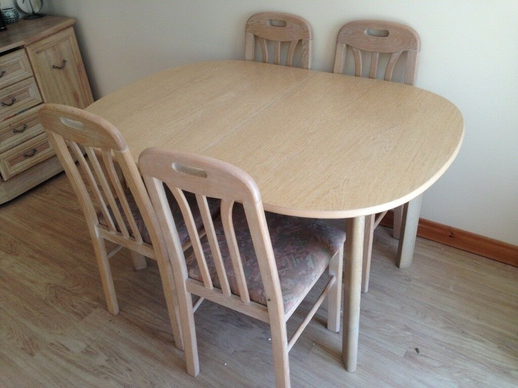 Limed oak dining table & 4 chairs | in Swindon, Wiltshire ...