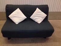 Ikea LYCKSELE Double Futon Sofa Bed Plus Graphite Grey Padded Cover & The Mattress + I CAN DELIVER