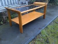 Large Retro Teak And Glass Coffee Table G Plan Style