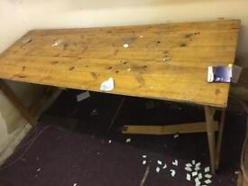 Wooden folding table. Carboot market etc.