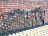 8ft Wide Wrought Iron Driveway Gates