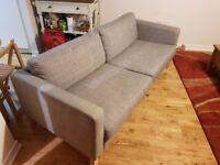 Sofa - Ikea Karlstad 2 Seater Isunda Grey