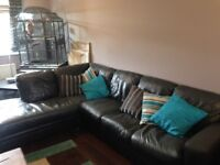 Modern Leather corner sofa suite...Charcoal Grey...Very good quality...3300 4 years ago