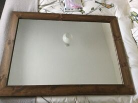Mirror dark wooden frame 70cmx100cm