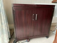 Hostess Trolly plugs in for keeping food warm (mahogany colour)