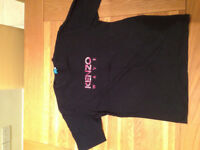 Kenzo Men's Midnight Blue T-Shirt (52/fitted L) JUST REDUCED
