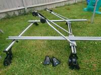 Mondeo 2008 saloon roof bars and two bike carriers