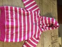 Girls mountain warehouse stripy hoodies aged 9-10
