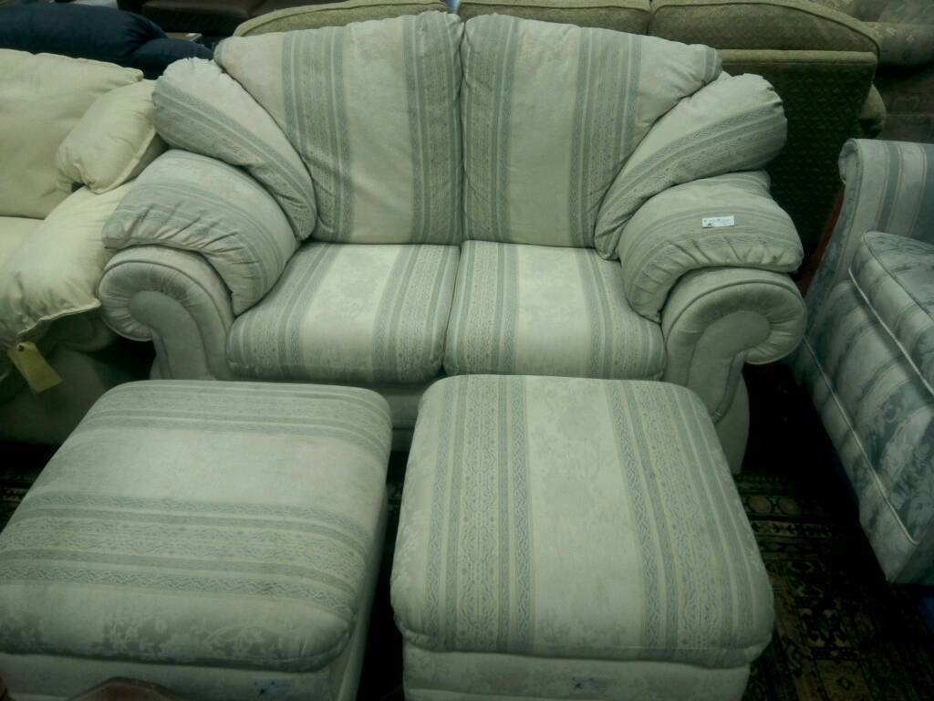 2 seater sofa & 2 footstool tcl 14676