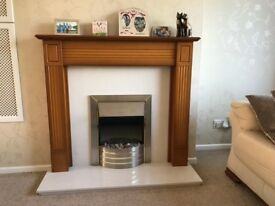 Electric Fire and Fireplace Surround