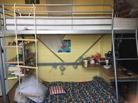 Kid's high rise loft bed