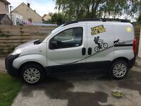 FIAT FIORINO 2011, Stop start, 90hp, Adventure, twin side doors personal use van just for my bikes,